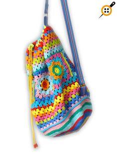 Marvelous Crochet A Shell Stitch Purse Bag Ideas. Wonderful Crochet A Shell Stitch Purse Bag Ideas. Crochet Backpack, Backpack Pattern, Drawstring Backpack, Crochet Handbags, Crochet Purses, Crochet Bags, Crochet Shell Stitch, Knit Crochet, Crochet Flower