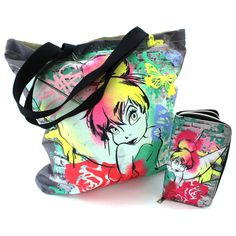 Disney Fairies Tinkerbell Large Canvas Tote Bag and Zipper Wallet Set ECPS904857