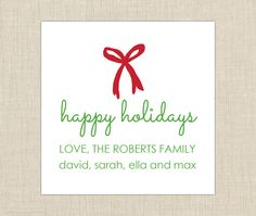 personalized gift tag- label- sticker. preppy gift label. set of 25