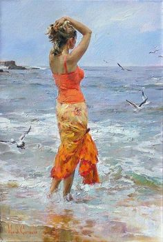Seascape Painting by Michail & Inessa Garmash.