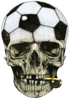 Sam Thomas Illustrations During Euro Cup! Soccer Tattoos, Crane, Bad To The Bone, Human Skull, Grim Reaper, Skull And Bones, Beauty Art, Skull Art, Dark Art