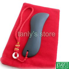 Gift chart & bag! Wholesale & Retail Traditional Acupuncture Massage Tool Bian stone Guasha Beauty face Board (S shape) $16.88