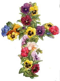 illustrations divers artistes serie E ( Parker Fulton) Cross Pictures, Première Communion, Creation Photo, Cross Art, Easter Pictures, Easter Cross, Easter Parade, Easter Printables, Easter Crafts
