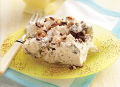 Wow - Angel Toffee Dessert to keep in freezer for anytime entertaining!  Mix up whip cream and toffee bits, stir in angel food cake (torn up).  Freeze! Yum!