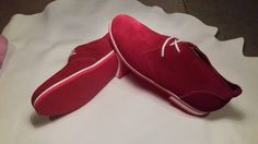 Red women leather shoe by DavidBalazic on Etsy