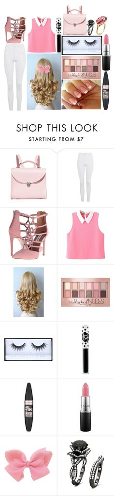 """""""Megan: September 8, 2016"""" by disneyfreaks39 ❤ liked on Polyvore featuring The Cambridge Satchel Company, Topshop, Steve Madden, WithChic, Maybelline, Huda Beauty, Lime Crime, MAC Cosmetics and Paolo Costagli"""