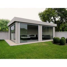 prachtig, modern poolhouse van Grandcasa blokhutten Elegance Silko, design tuinhuis
