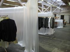 Comme des Garçons Guerrilla Store +4161, which has been temporarily set up in an old industrial building in Basel, Switzerland.