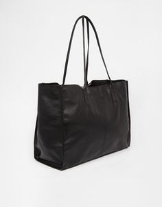 Enlarge ASOS Leather Shopper with Skinny Straps