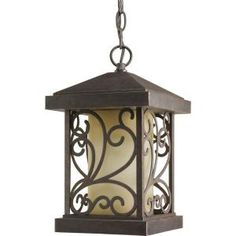 Progress Lighting, Cypress Collection 1-Light Forged Bronze Hanging Lantern, P5534-77 at The Home Depot - Mobile $81