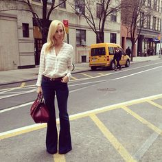 Today sporting @Goldsign Jeans @joie_clothing top and @gucci bag http://instagr.am/p/UW3aU1rrEh/  Photo by brooklynblonde1