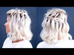 HOW TO: Waterfall Braid Short Hair Tutorial | Milabu - YouTube