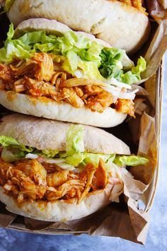 Szarpany kurczak BBQ (4 składniki) - Wilkuchnia.pl Healthy Dinner Recipes, Mexican Food Recipes, Cooking Recipes, Good Food, Yummy Food, Food Inspiration, Food Porn, Food And Drink, Easy Meals