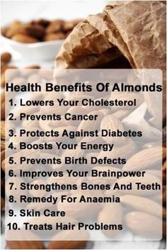 Benefits of #Almonds