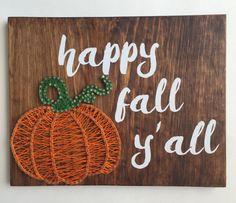 Happy Fall Y'all String Art