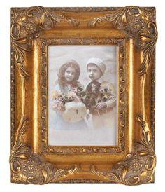 """NEU ROMANTISCHER FOTO RAHMEN /"""" BAROCK /"""" GOLD ANTIK für 13 x 18 cm Bilder"""