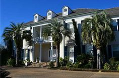 Mississippi : $6,999,000. Exquisite Beachfront Estate on the Gulf of Mexico. This prominent estate is appointed with: main home and two guest cottages, the main dwelling features fifteen bedrooms, 12f/7h  bathrooms, a library, Grand formal dining room, sitting rooms, soaring ceilings, custom millwork,pool,4car garage, 8ac's