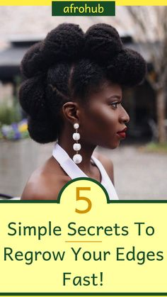 Looking to regrow you hair's edges? You might be surprised to learn that simple changes your in diet and natural hair regimen (among other things) can be really effective. Find out exactly how you can achieve this in the article! #naturalhairgrowth #naturalhairproducts #protectivestyles #naturalhairstyles #naturalhairregimen #naturalhairgrowth #locvslco #howtolayedges #howtogrowedges #naturalhairtips #deepconditioninghairtreatment #proteintreatment