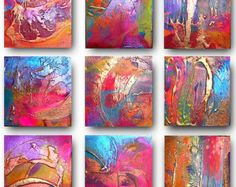 Original Abstract Art by Caroline Ashwood by AffordableArtGallery