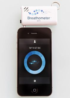 If you liked the wine bottle gadget last week, then you may want to consider this weeks gadget - an iphone breathe tester to see if you are over the limit!