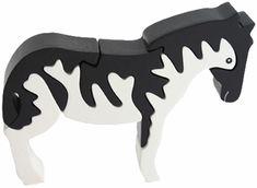 Zebra Wooden Puzzle - 3D Wood Jigsaw Puzzle