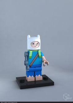Human Finn. Adventure Time LEGO awesomeness.
