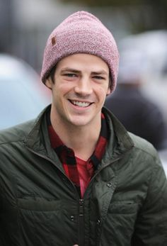 Grant Gustin spotted leaving a sound studio in Vancouver, Canada on October 16, 2014.