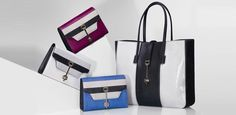 Tod's Calf leather or python skin tote bags with gleaming central clasp