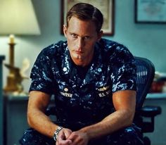 Alexander Skarsgard - my love - in uniform - yes please.