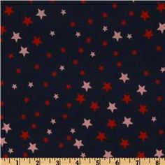 navy with red and pink stars $3.59/yd