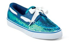 JUST GOT THESE as a Birthday present --SO CUTE!!  Sperry Top-sider Women's Iridescent Sequin Bahama Boat Shoe