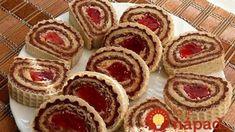 Vynikajúce vaflové rolky: Budú krásne aj na sviatočnom stole a chutia fantasticky! Christmas Cookies, Cheesecake, Muffin, Rolls, Sweets, Baking, Breakfast, Desserts, Biscuits
