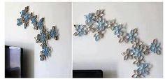 Niečo pekné a lacné a originálne na stenu | Nápady a návody