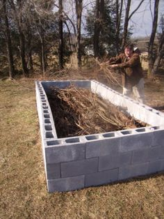How to make a raised bed, the German way.