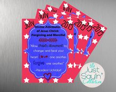 $2.00, July 2015 LDS Visiting Teaching Message by JustSayinCollection