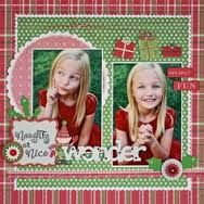 christmas scrap layout - Google Search
