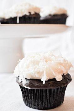 Chocolate & Coconut Cream Cupcakes