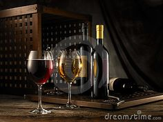 Red And White Wine - Download From Over 39 Million High Quality Stock Photos, Images, Vectors. Sign up for FREE today. Image: 5483824