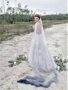 Black bridal veil products 42 Ideas for 2019 Wedding Cape Veil, Dip Dye Wedding Dress, Bridal Wedding Dresses, Wedding Pins, Wedding Outfits, Wedding Ideas, Veil Length, Bridal Shower Rustic, Gray Weddings
