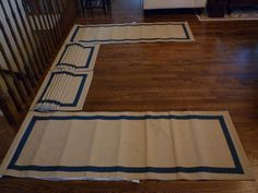 Roman blinds for bottom of bedroom window. This was a difficult window to buy drapes for so I made them for my niece.