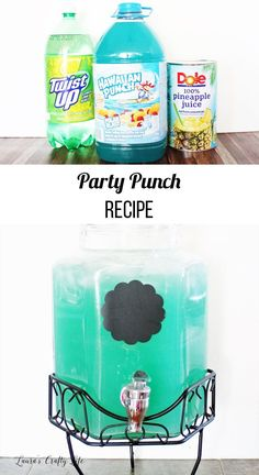 Make this delicious recipe for party punch. With only three simple ingredients, it wilParty Punch Recipe Party Punch. Make this delicious recipe for party punch. With only three simple ingredients, it wil Birthday Party Drinks, Luau Birthday, Frozen Birthday, Party Favors, Birthday Party Food For Kids, Mermaid Birthday Party Ideas, Birthday Ideas, Hawaiian Theme Party Food, Hawaiin Party Ideas