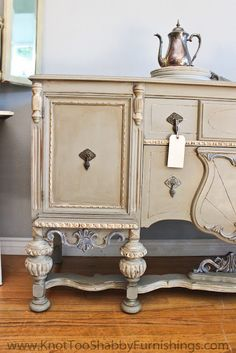 Paris Gray, with glaze to accentuate the carved details