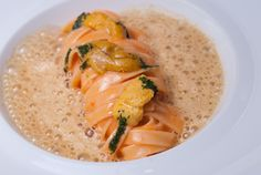 House-made Sea Urchin Pasta, Fennel, Garlic, and Creamy Uni Sauce - Chef Didier Elena of Adour - New York, NY
