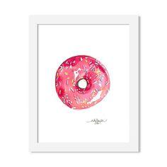 donut - 8 x 10 print - JustGreet Watercolours, Art Prints, Art Impressions