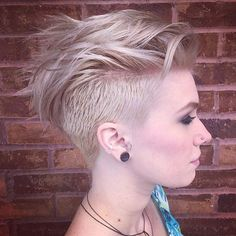 Cut, color and style by @joeltorresstyle! #shorthair #undercut #haircut #haircolor #hairstyle #modernsalon #hairdressermagic #hairdressers