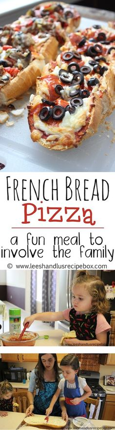 Leesh & Lu's Recipe Box: French Bread Pizza: