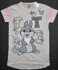 PRIMARK Thumper PJ T-Shirt Disney Sizes 6 - 20 new