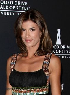 Elisabetta Canalis casual hairstyle