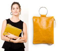 MAYKO BAGS | Handmade Leather Bags | Online Shop #handmade #leather #bags #women #fashion #yellow #wristlet #clutch $69
