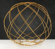 "awesome 18"" inch golden wire ball, great for a diy chandelier?   this website has such awesome stuff!!! #lighting"